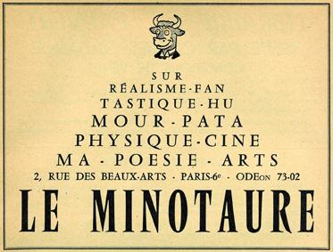 Annonce Minotaure - Revue Bizarre