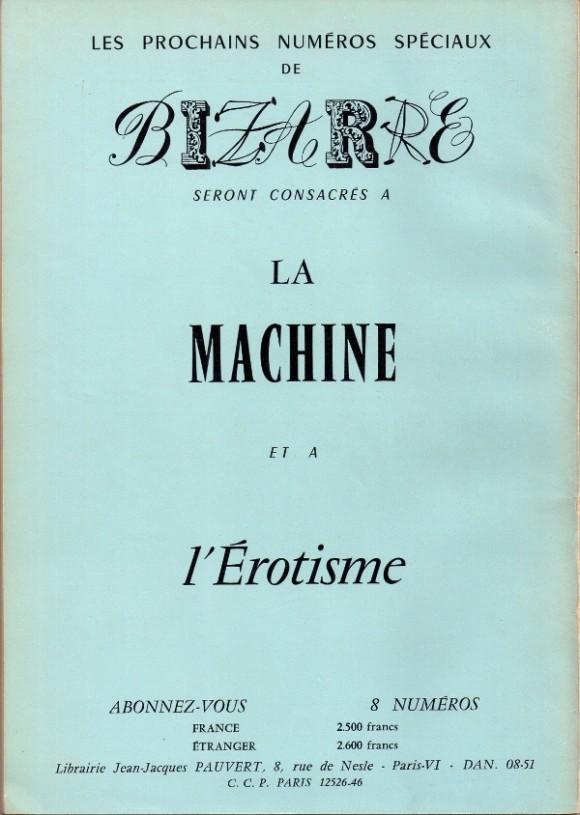 Bizarre - Machine et erotisme