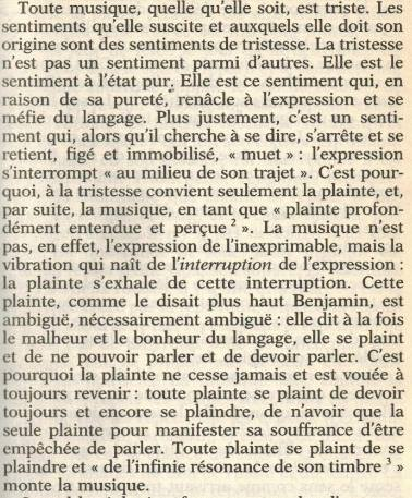Francoise Proust - Musique et tristesse